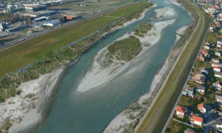 Projekt Rhesi im Rheinmodell zum ersten Mal erlebbar